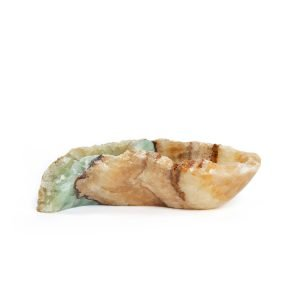 Blue Brown and Gold Natural Onyx Bowl