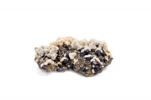 calcite and sphalerite on pyrite