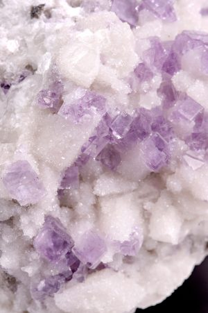Purple Fluorite & white quartz