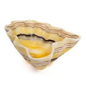 Tiger Striped Red Stripe Onyx Bowl