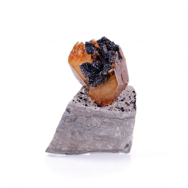 calcite and sphalerite