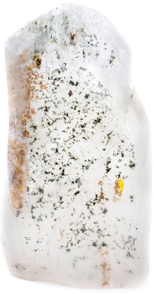 quartz with hollandite stars