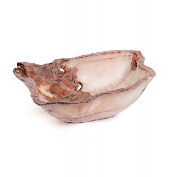 pink and red rustic onyx bowl