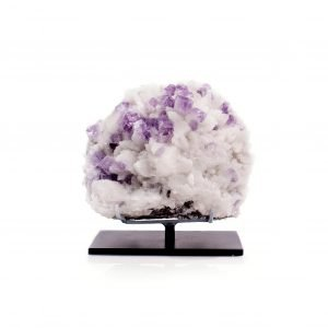 purple fluorite & white quartz