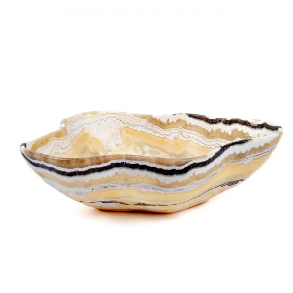 Brown and Yellow Onyx Bowl