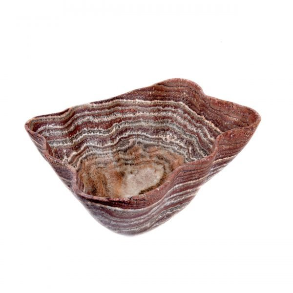 Maroon Striped Onyx Bowl