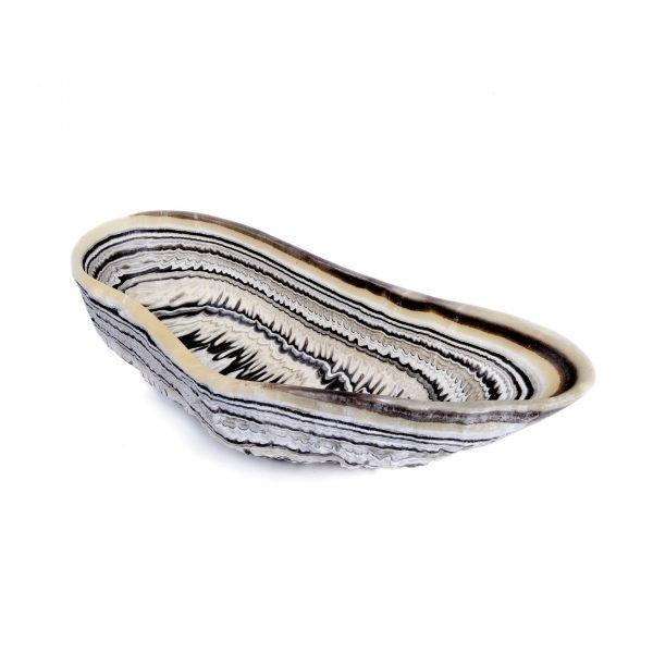 Tiger Striped Natural Onyx Bowl