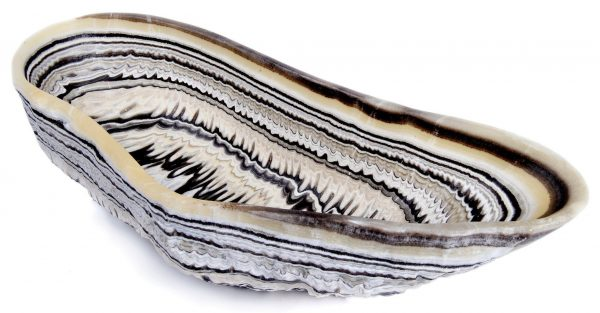 Tiger Striped Natural Onyx Bowl