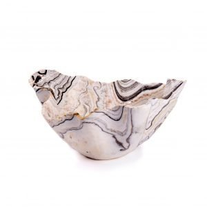Grey White and PInk Onyx Bowl