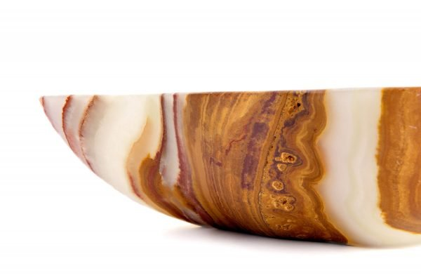 Brown and Green Striped Onyx Bowl
