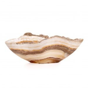 Natural Striped Onyx Bowl