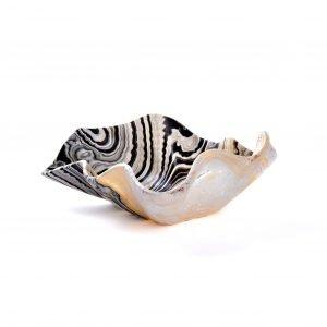 Tiger Stripe Clam Onyx Bowl