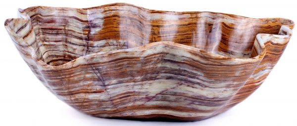 Striped Brown Polished Onyx Bowl